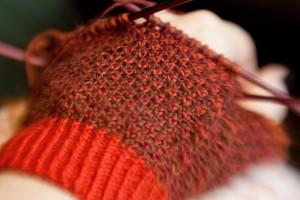 Knitting russet
